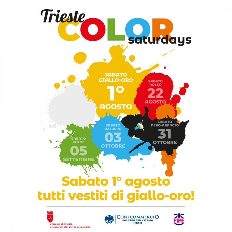 """Sabato """"città dorata"""" con Trieste Color Saturdays/Notte dei Saldi"""